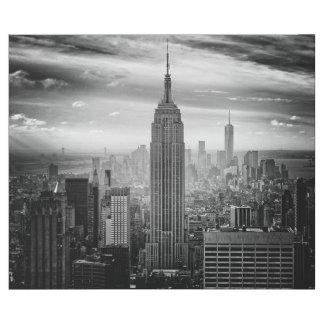 Horizonte de New York City blanco y negro Papel De Regalo