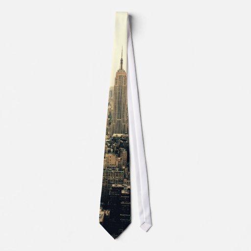 Horizonte de New York City Corbata Personalizada