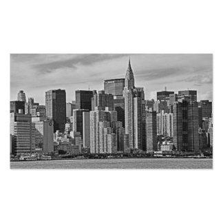 Horizonte de New York City del East River B&W Tarjetas De Visita