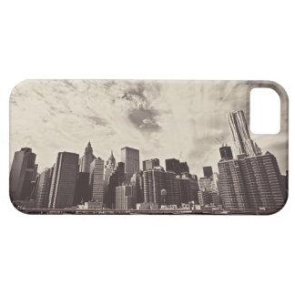Horizonte de New York City del estilo del vintage iPhone 5 Cobertura