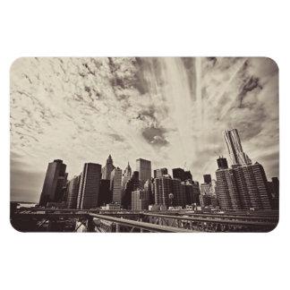 Horizonte de New York City del estilo del vintage Imanes De Vinilo