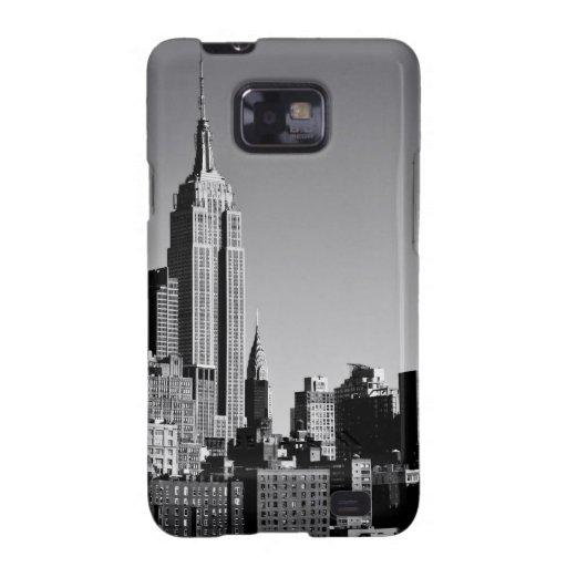Horizonte de New York City en blanco y negro Galaxy SII Funda