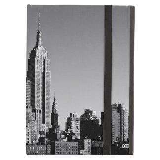 Horizonte de New York City en blanco y negro