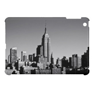 Horizonte de New York City en blanco y negro iPad Mini Funda