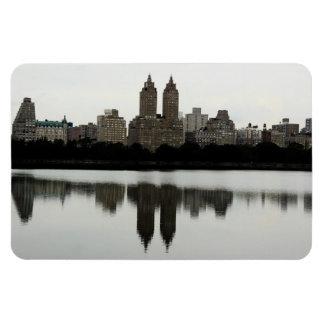 Horizonte de New York City en Central Park Imán Flexible