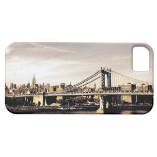 Horizonte de New York City en la luz del sol Funda Para iPhone 5 Barely There