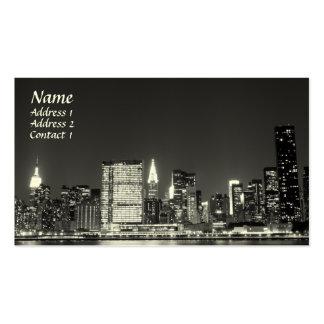 Horizonte de New York City en la noche Lower Manh Plantilla De Tarjeta De Visita
