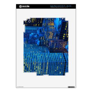 Horizonte de New York City en la puesta del sol iPad 3 Skins