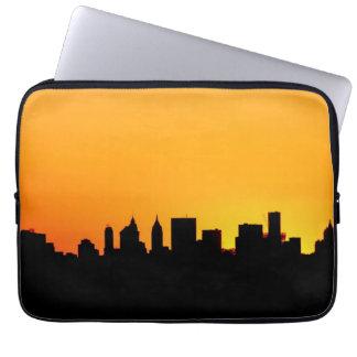 Horizonte de New York City en la puesta del sol, M Mangas Portátiles