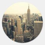 Horizonte de New York City Etiqueta