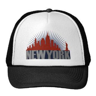 Horizonte de New York City Gorros Bordados