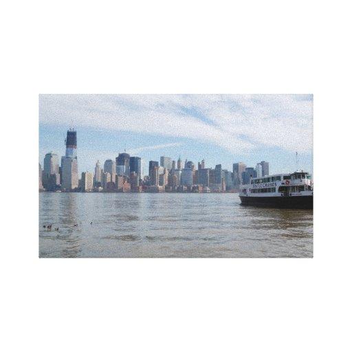 Horizonte de New York City Impresión De Lienzo
