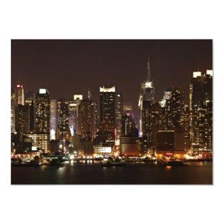 "Horizonte de New York City Invitación 4.5"" X 6.25"""