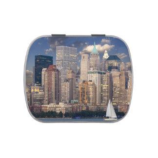 Horizonte de New York City Jarrones De Caramelos
