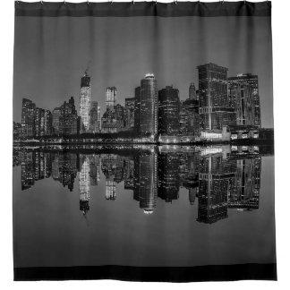 Horizonte de New York City Manhattan Cortina De Baño