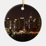 Horizonte de New York City Ornamento De Navidad