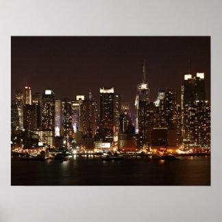 Horizonte de New York City Posters