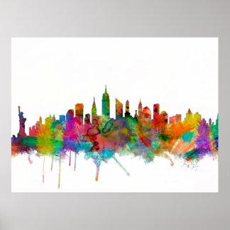 Horizonte de New York City Poster