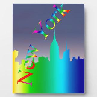 Horizonte de New York City Placa Para Mostrar