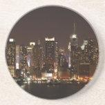 Horizonte de New York City Posavasos Diseño