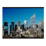 Horizonte de New York City Postales