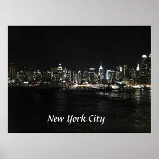 Horizonte de New York City Póster