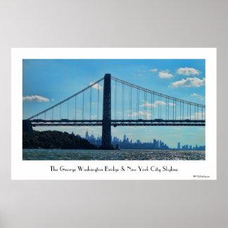 Horizonte de New York City, puente de George Impresiones