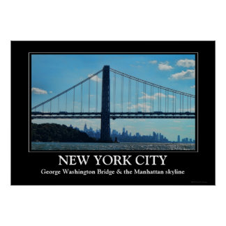 Horizonte de New York City, puente de George Posters