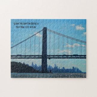 Horizonte de New York City, puente de George Puzzle
