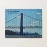 Horizonte de New York City, puente de George Washi Puzzle