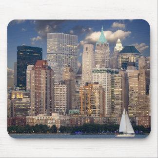 Horizonte de New York City Tapete De Ratones