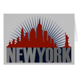 Horizonte de New York City Tarjeta De Felicitación
