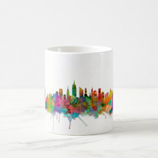 Horizonte de New York City Tazas