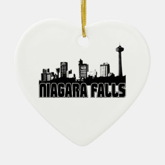 Horizonte de Niagara Falls Adorno De Cerámica En Forma De Corazón