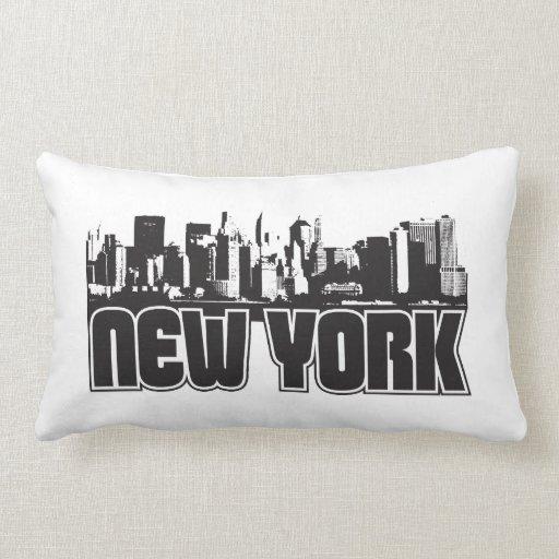 Horizonte de Nueva York Cojín