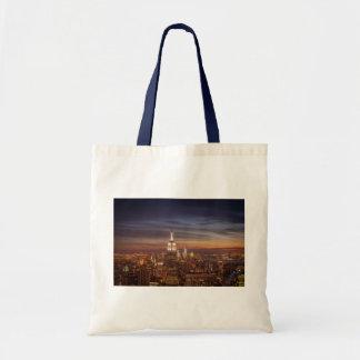 Horizonte de Nueva York con el Empire State Buildi Bolsa