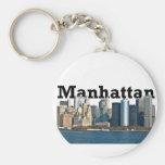"""Horizonte de Nueva York con """"Manhattan"""" en el ciel Llaveros"""