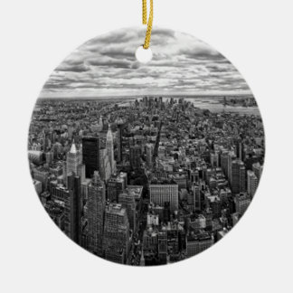 Horizonte de Nueva York Ornamentos De Navidad