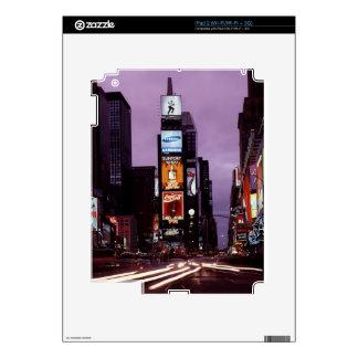 Horizonte de Nueva York del Times Square en la iPad 2 Skins