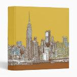 Horizonte de Nueva York en amarillo