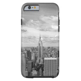 Horizonte de Nueva York en blanco y negro Funda Para iPhone 6 Tough
