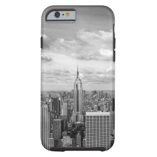 Horizonte de Nueva York en blanco y negro Funda De iPhone 6 Tough