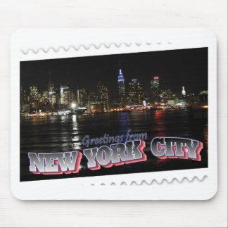Horizonte de Nueva York en el estado del imperio d Tapete De Ratones