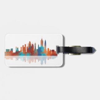 HORIZONTE de NUEVA YORK - etiqueta del equipaje Etiquetas Maleta