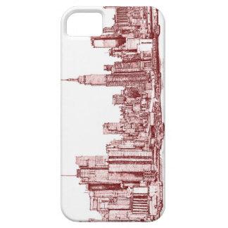 Horizonte de Nueva York iPhone 5 Carcasa