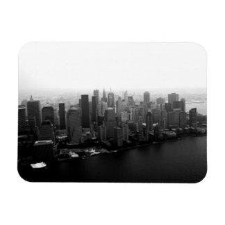 Horizonte de Nueva York Imanes Rectangulares