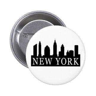 Horizonte de Nueva York Pin