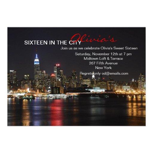 Horizonte de Nueva York por la invitación de la no