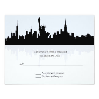 Horizonte de Nueva York que casa RSVP Invitación 10,8 X 13,9 Cm