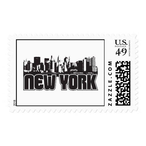 Horizonte de Nueva York Sello
